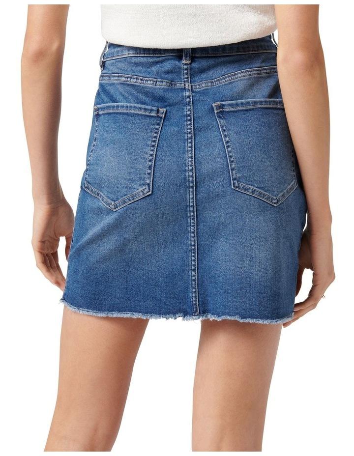 Laura Stretch Denim Mini Skirt Mid Wash image 4