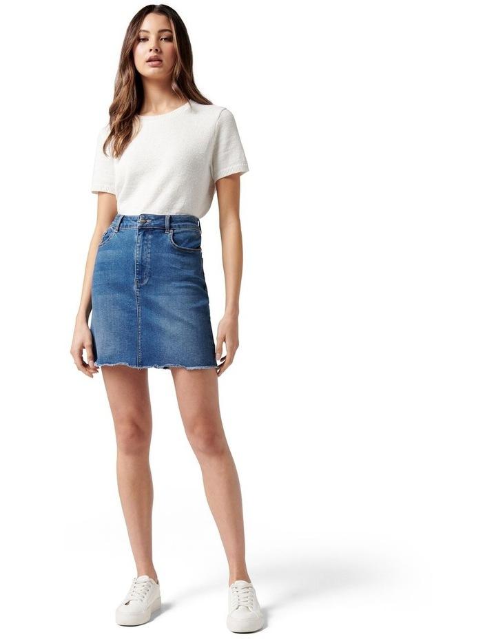 Laura Stretch Denim Mini Skirt Mid Wash image 5