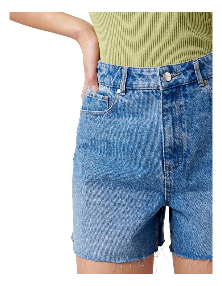 Miranda High Rise Rigid Denim Short Mid Wash image 2