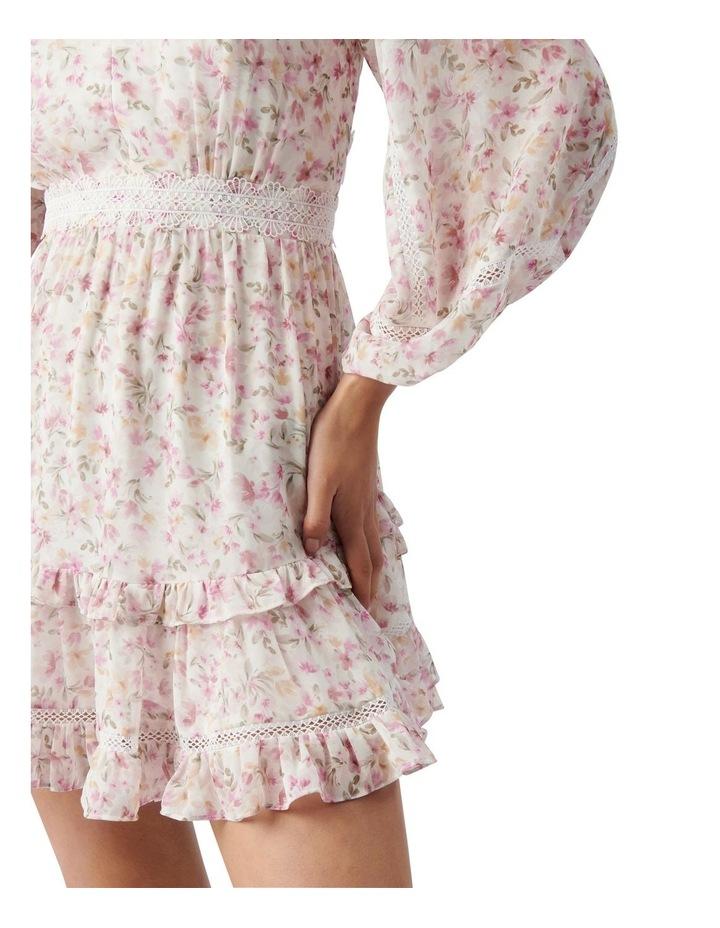 Jane Trim Splice Mini Dress Pink Dreamcatcher Ditsy image 2