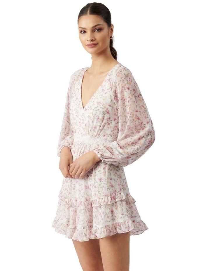 Jane Trim Splice Mini Dress Pink Dreamcatcher Ditsy image 3