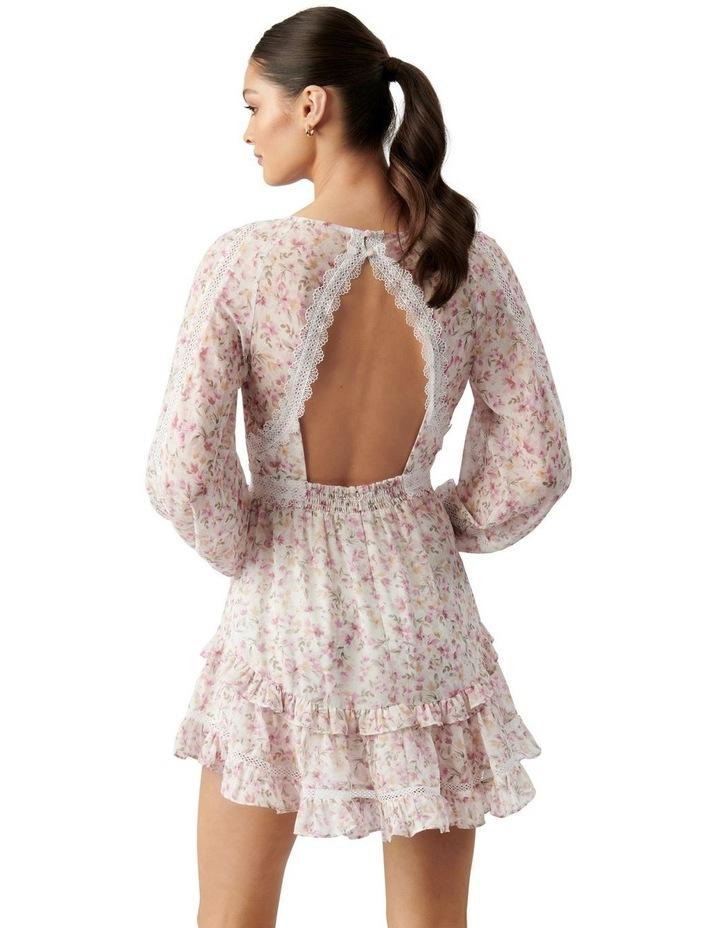 Jane Trim Splice Mini Dress Pink Dreamcatcher Ditsy image 4