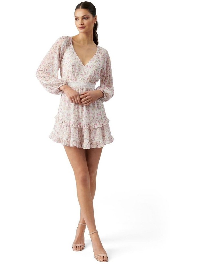 Jane Trim Splice Mini Dress Pink Dreamcatcher Ditsy image 5