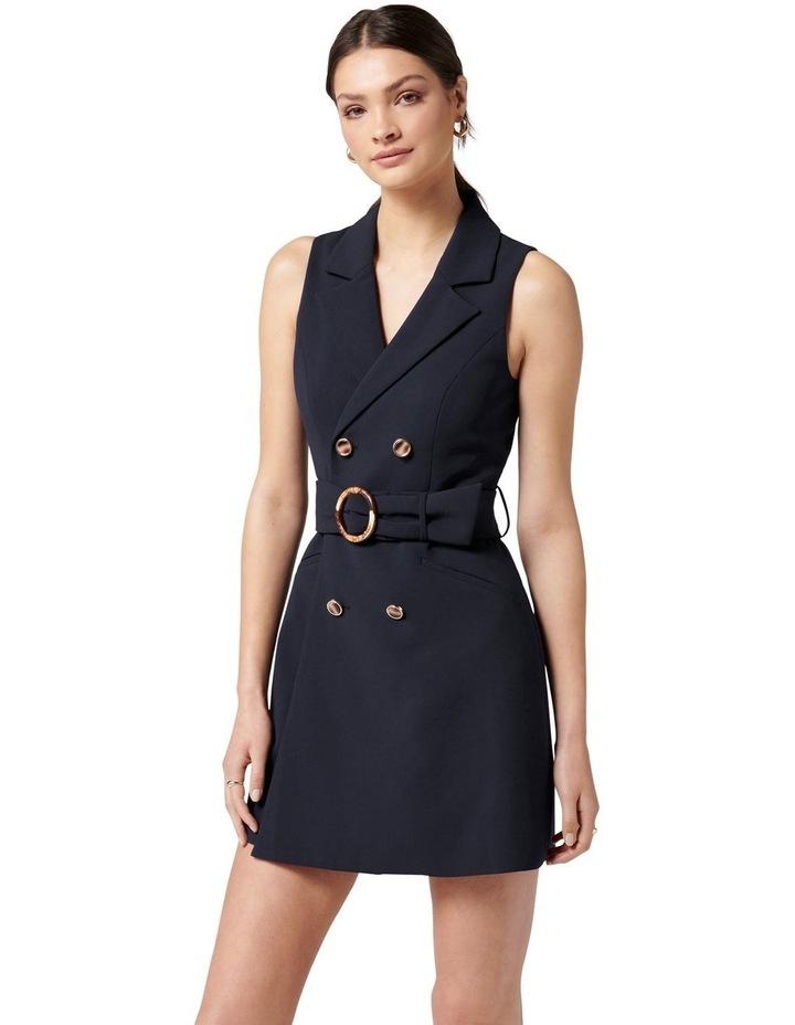 Tessa Sleeveless Blazer Dress Navy image 3