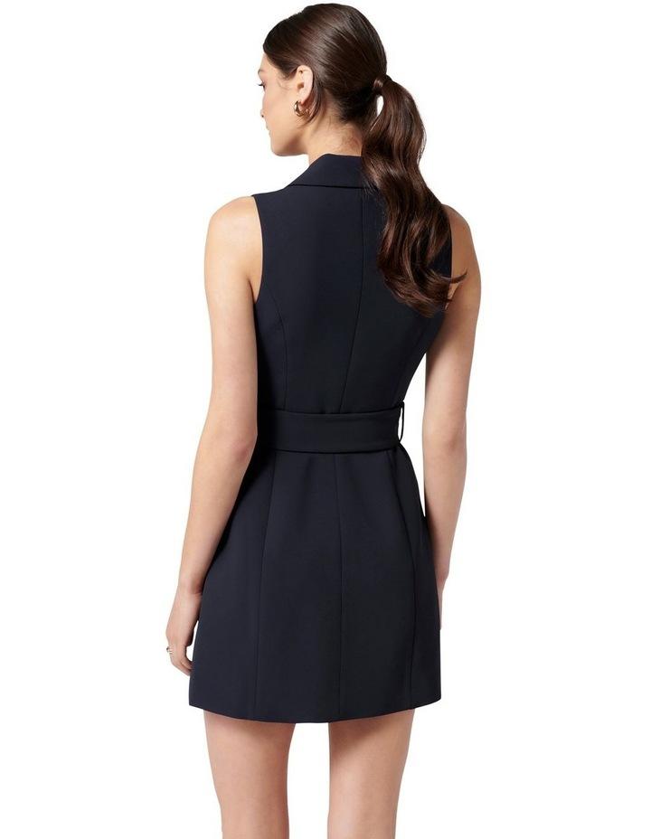Tessa Sleeveless Blazer Dress Navy image 4