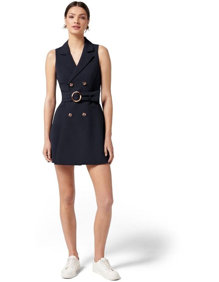 Tessa Sleeveless Blazer Dress Navy image 5
