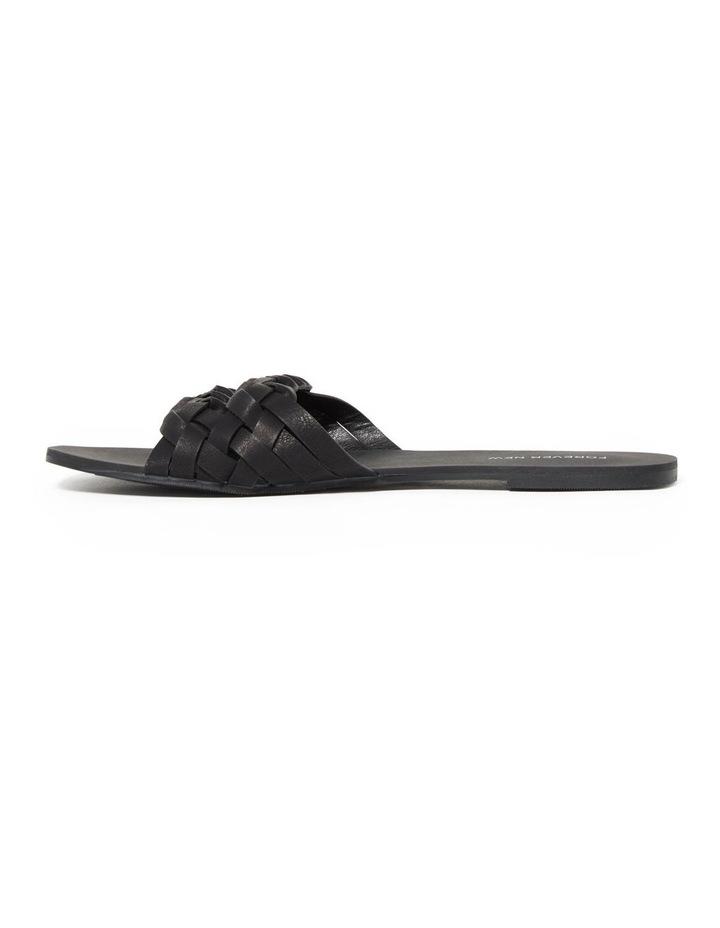 Louise Black Woven Two Strap Sandal image 1
