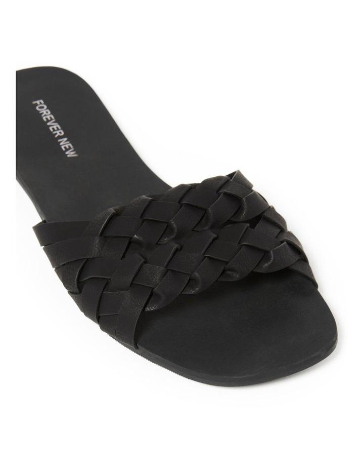 Louise Black Woven Two Strap Sandal image 2