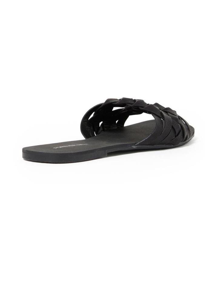 Louise Black Woven Two Strap Sandal image 3