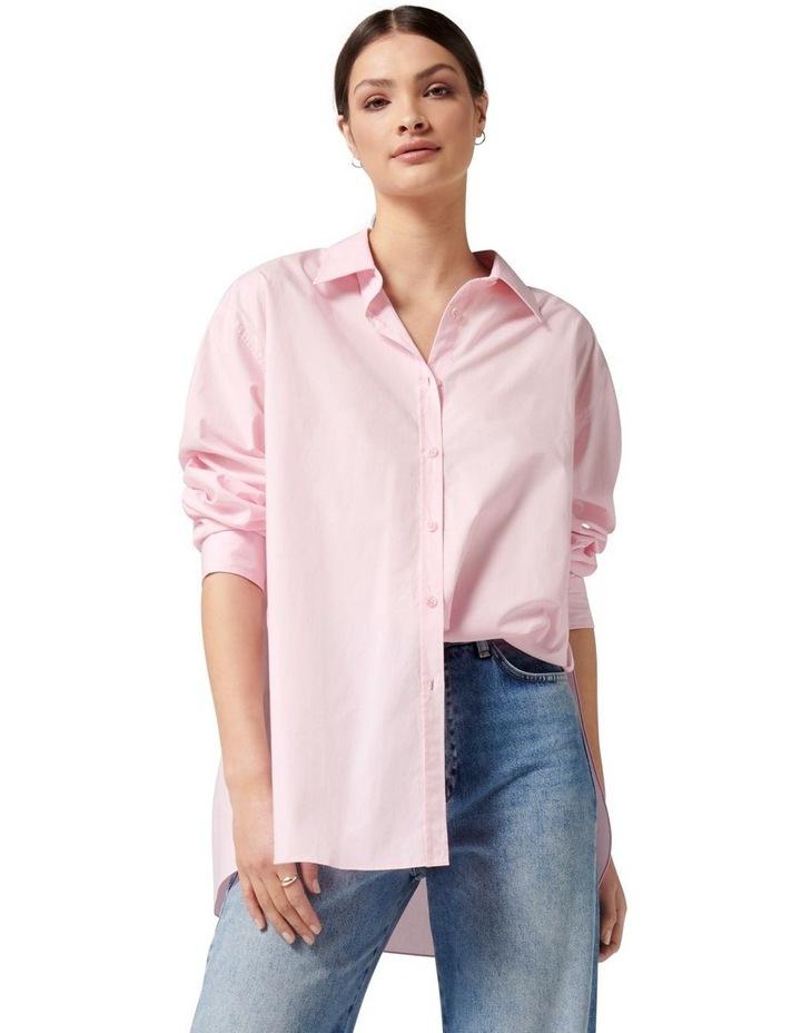 Hadley Oversized Poplin Shirt Pink image 1