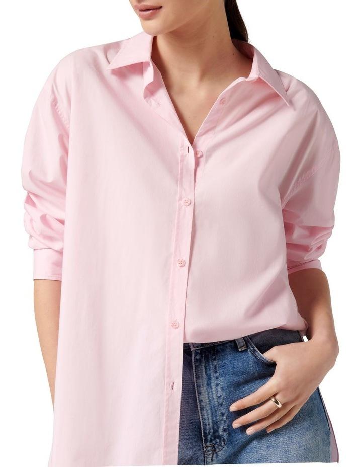 Hadley Oversized Poplin Shirt Pink image 2