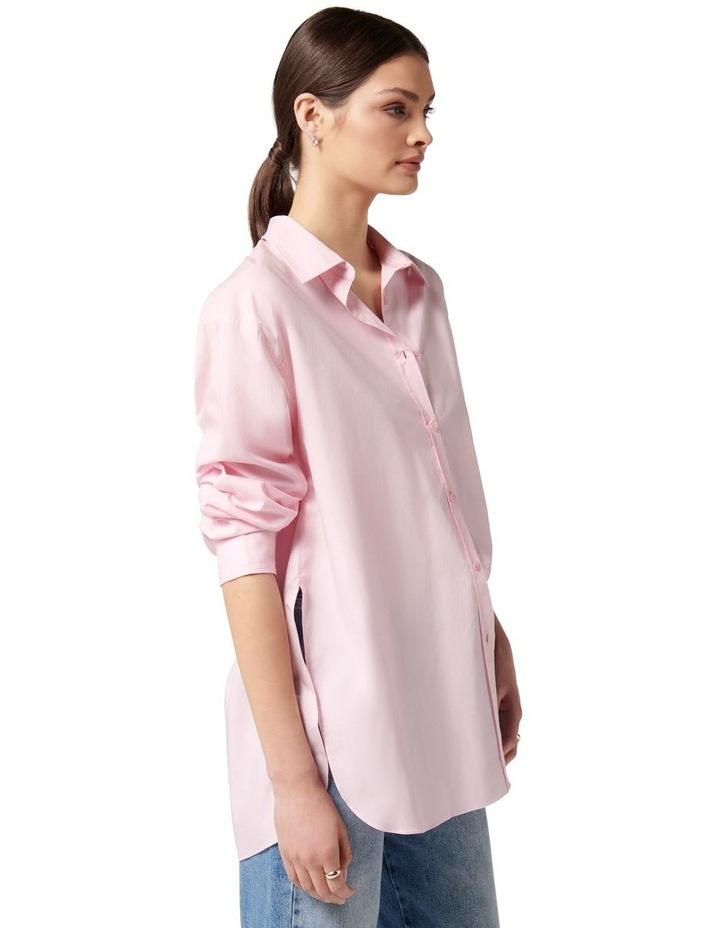 Hadley Oversized Poplin Shirt Pink image 3