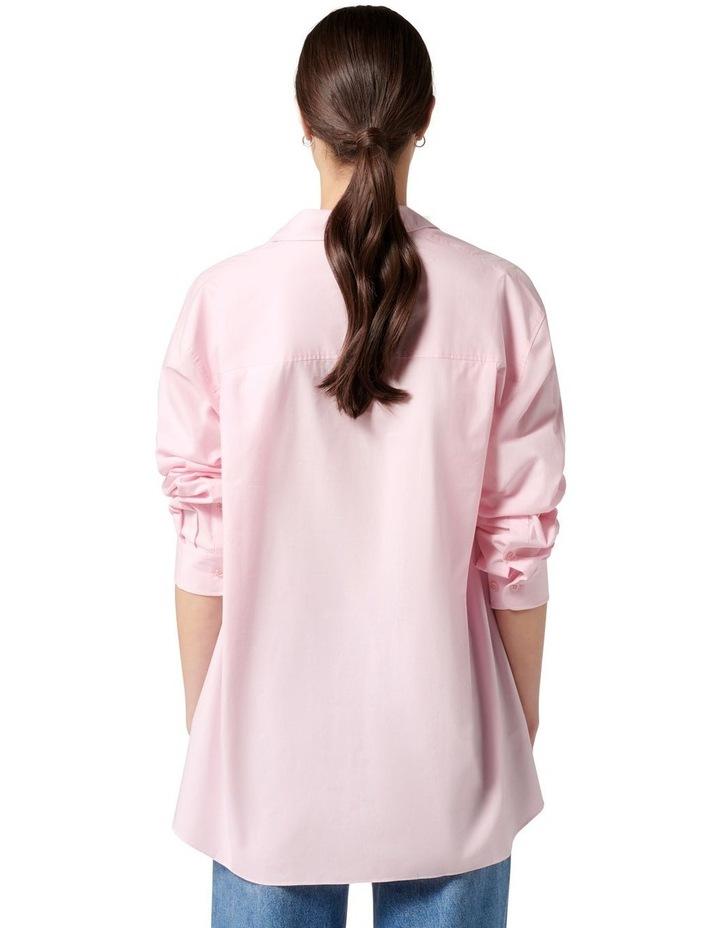 Hadley Oversized Poplin Shirt Pink image 4