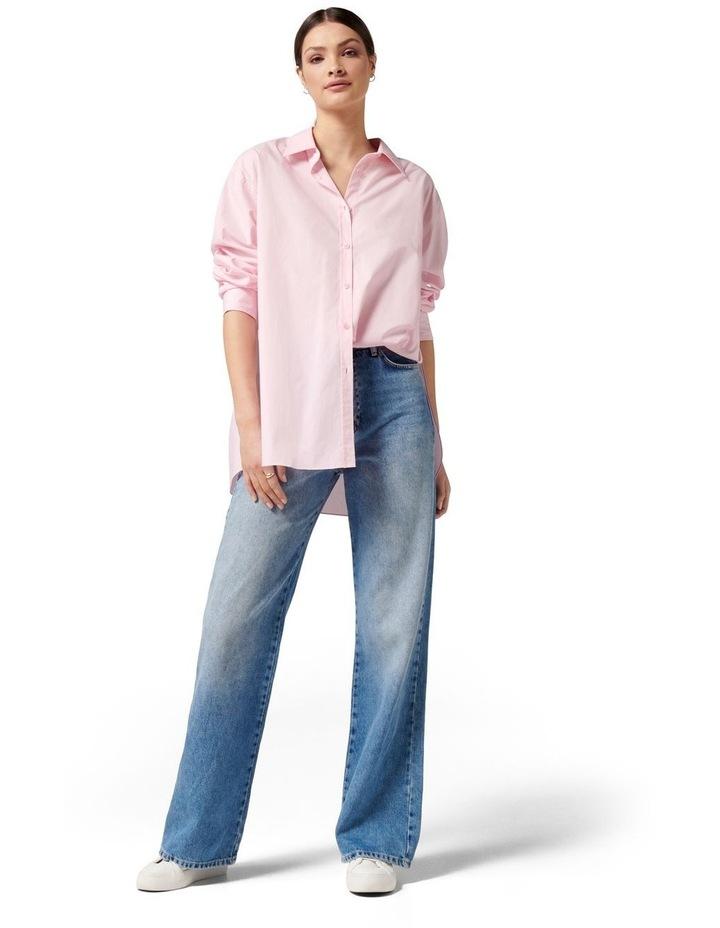 Hadley Oversized Poplin Shirt Pink image 5