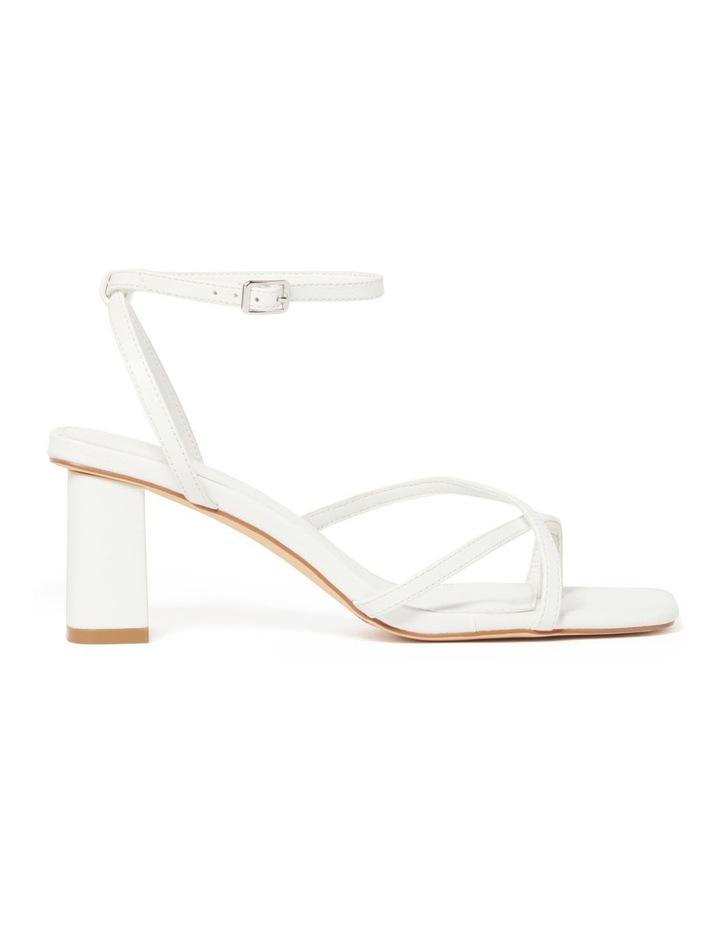 Alisa White Strappy Low Block Heel image 1