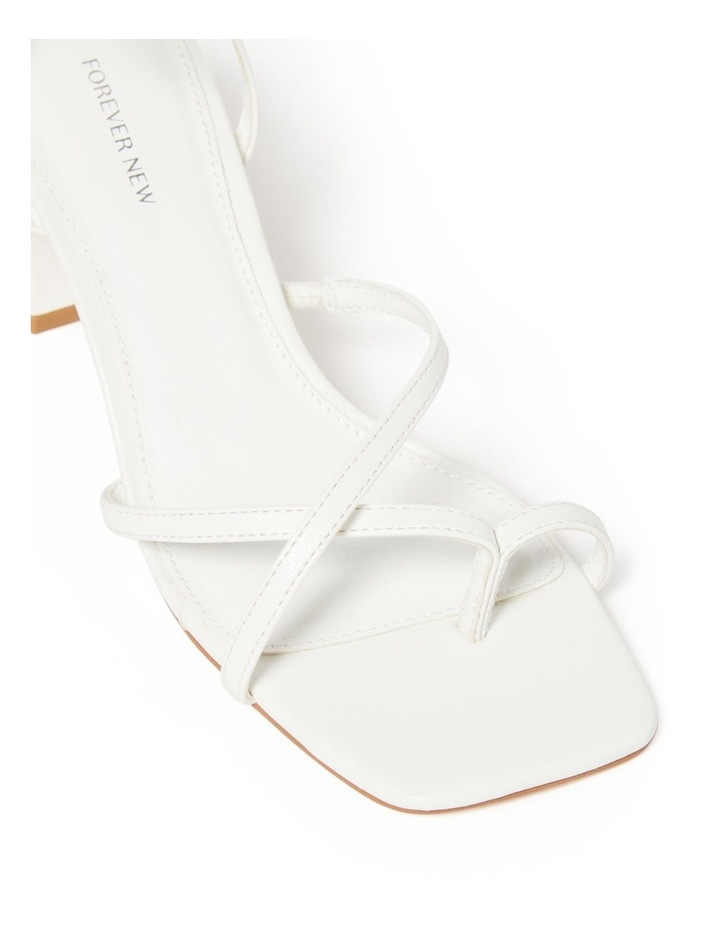 Alisa White Strappy Low Block Heel image 2