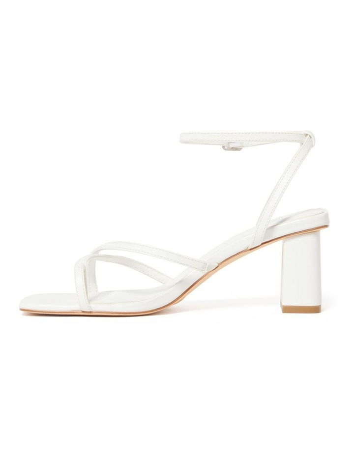 Alisa White Strappy Low Block Heel image 3