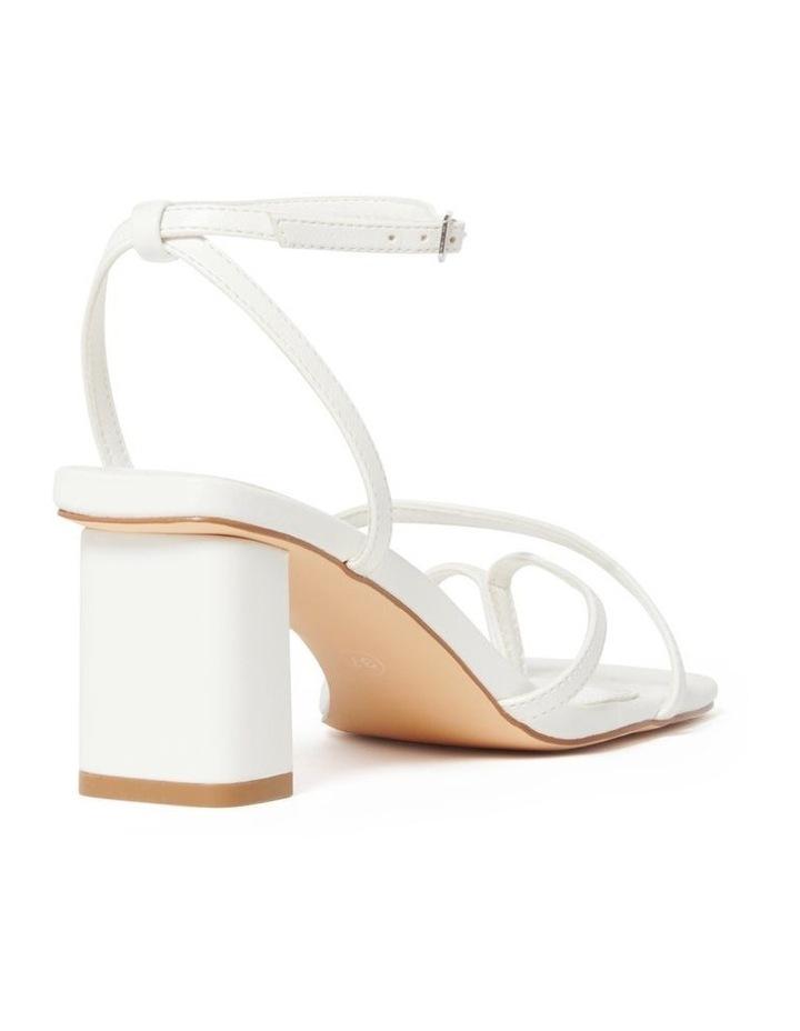 Alisa White Strappy Low Block Heel image 4