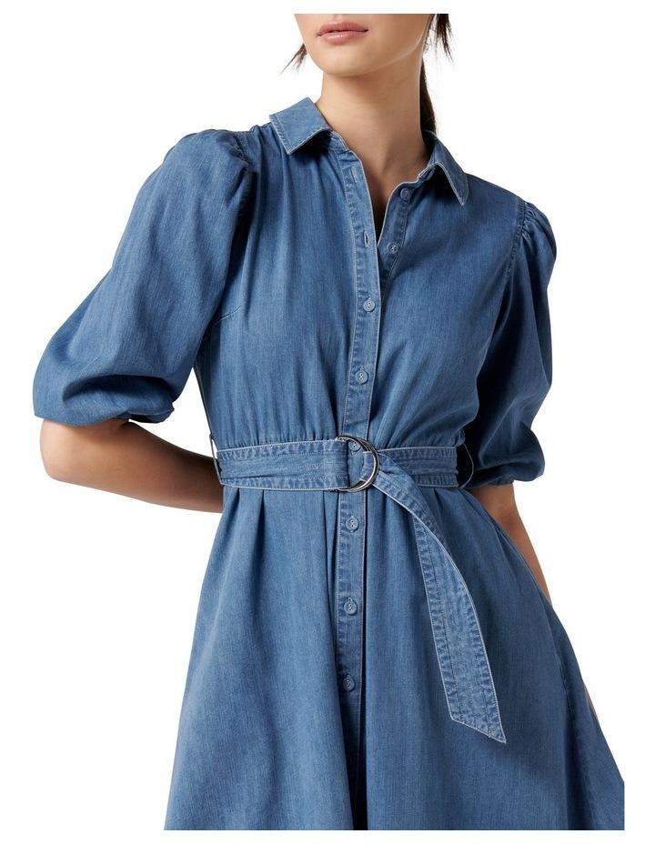 Perla Petite Puff Sleeve Shirt Dress image 2