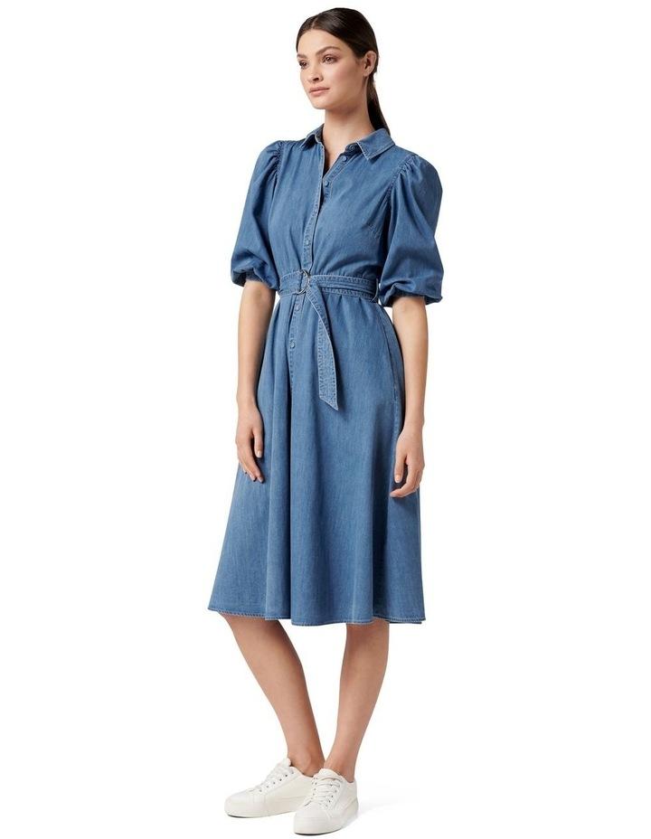 Perla Petite Puff Sleeve Shirt Dress image 3