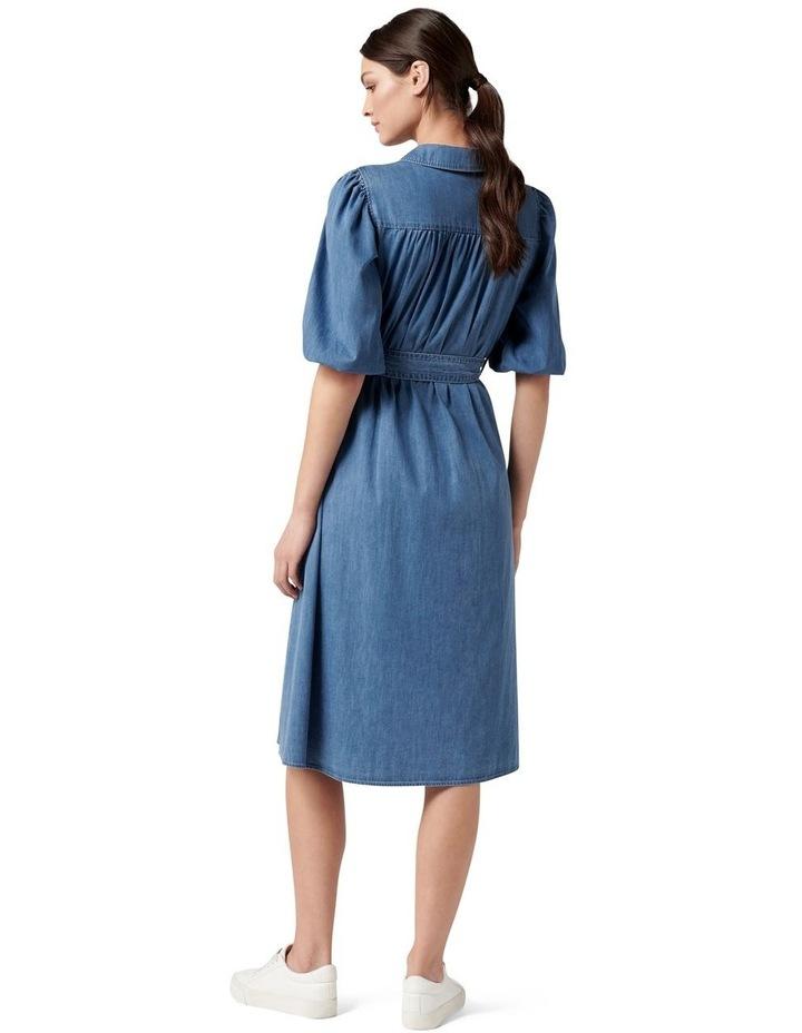 Perla Petite Puff Sleeve Shirt Dress image 4