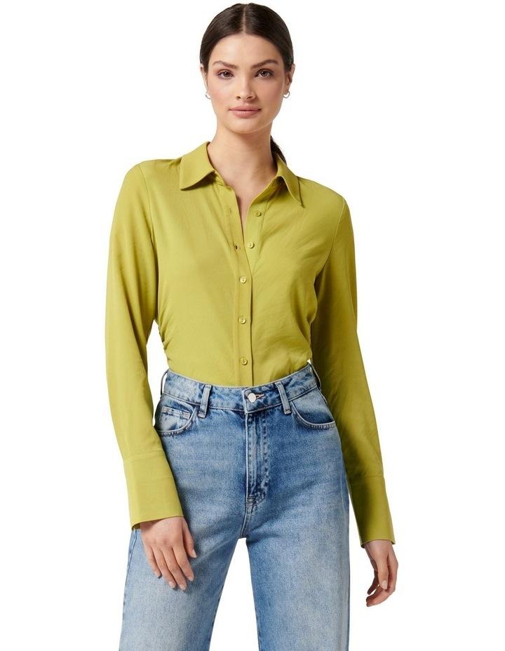 Nora Slimline Shirt Dusty Chartreuse image 1