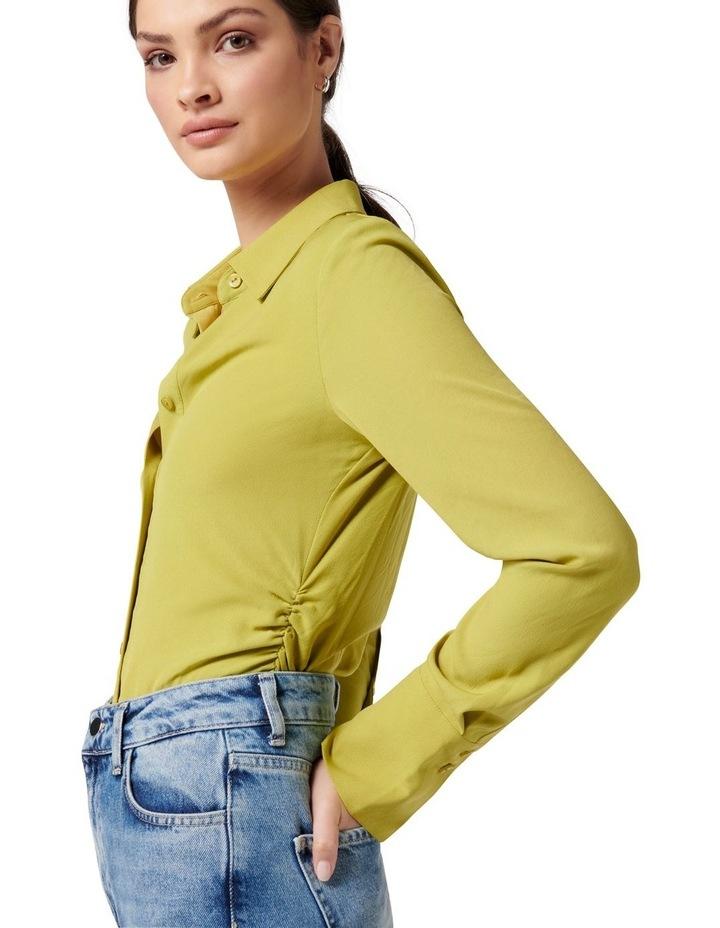 Nora Slimline Shirt Dusty Chartreuse image 2