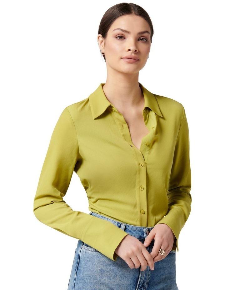 Nora Slimline Shirt Dusty Chartreuse image 3