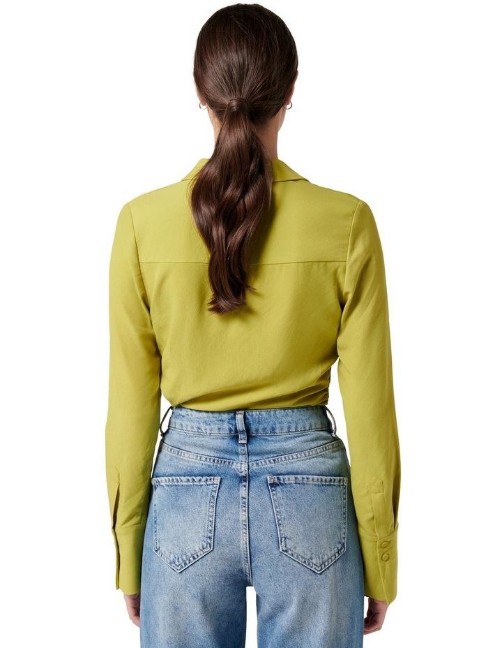 Nora Slimline Shirt Dusty Chartreuse image 4
