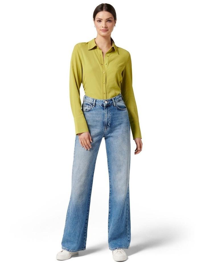 Nora Slimline Shirt Dusty Chartreuse image 5