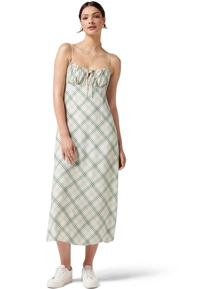 Hayden Midi Slip Dress Jade Check image 1