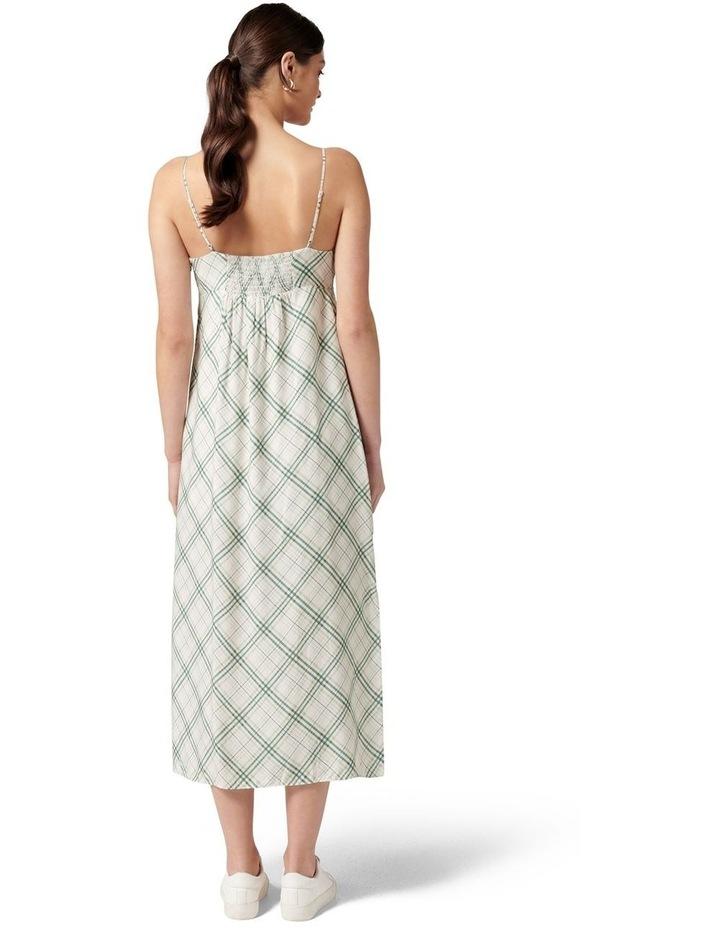 Hayden Midi Slip Dress Jade Check image 4