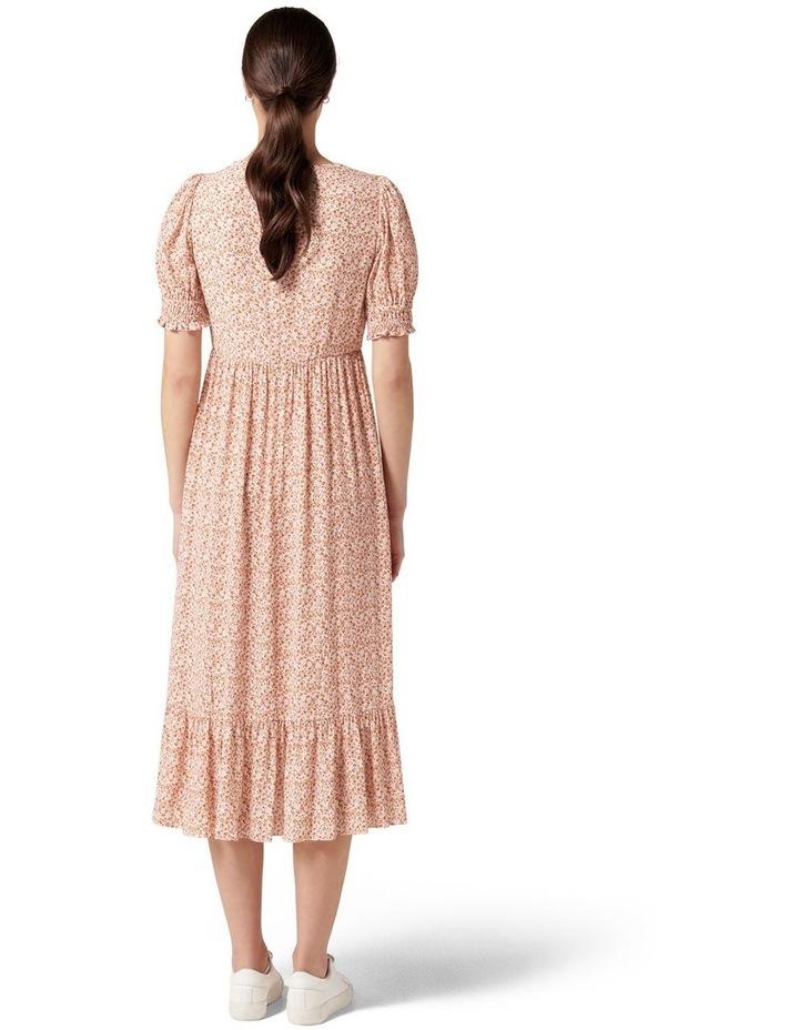 Louise Puff Sleeve Midi Dress Rust Dahlia Ditsy image 4