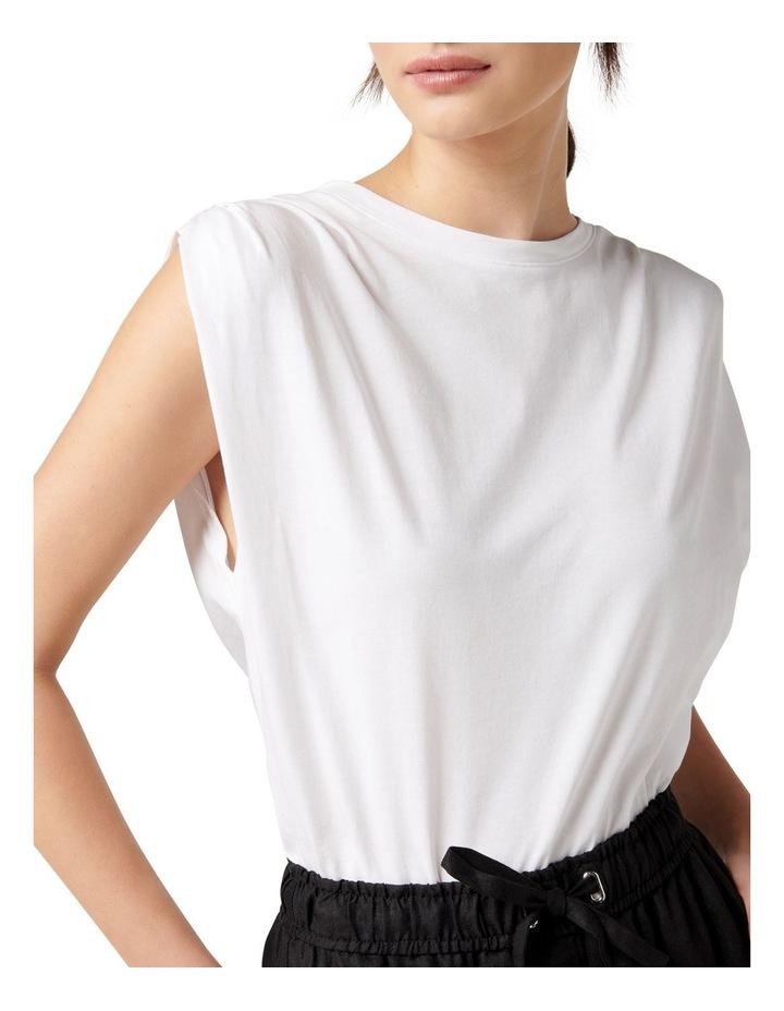Shayla Pleat Shoulder Tank Porcelain image 2