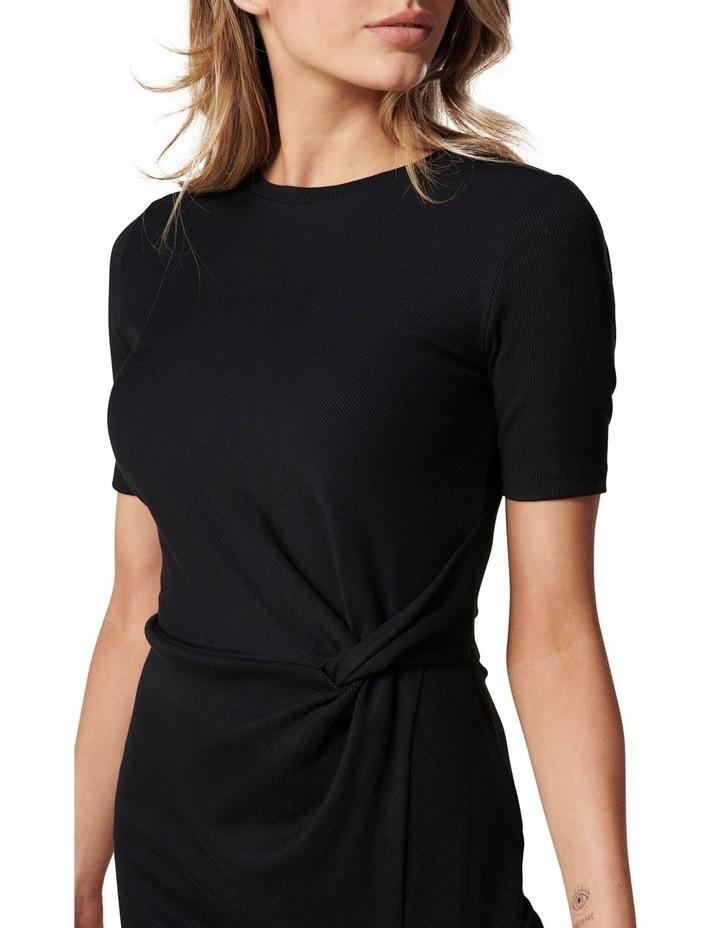 Lana Short Sleeve Split Front Dress Black image 2