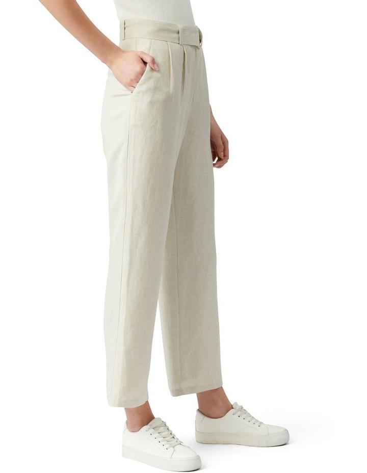 Poppy Linen Straight Leg Pants Neutral image 3