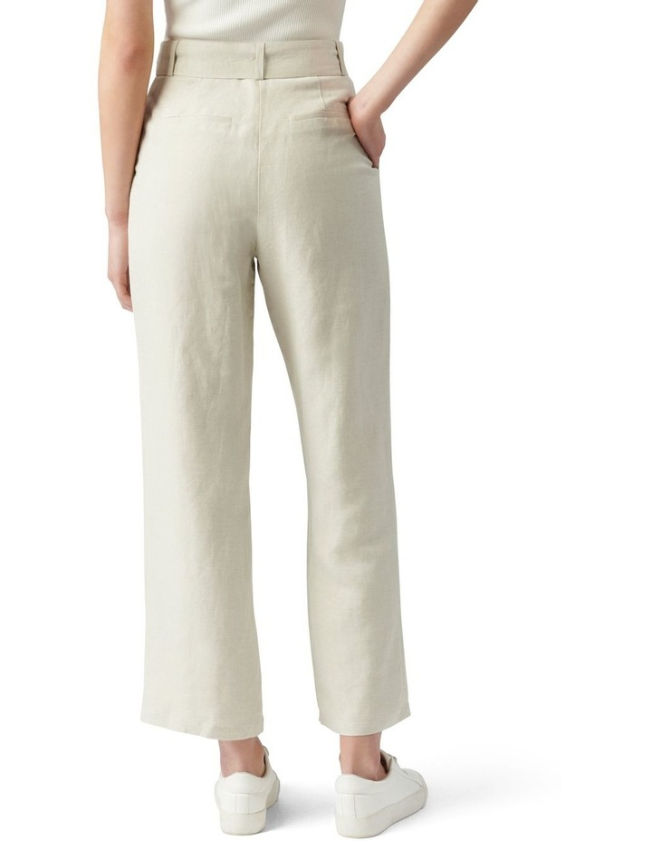 Poppy Linen Straight Leg Pants Neutral image 4