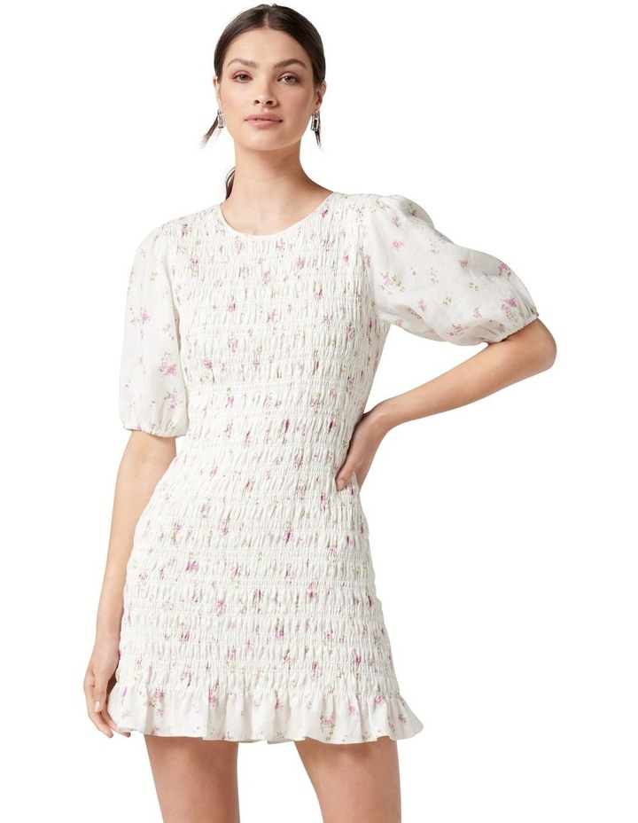Alexa Shirred Mini Dress Alma Ditsy image 1