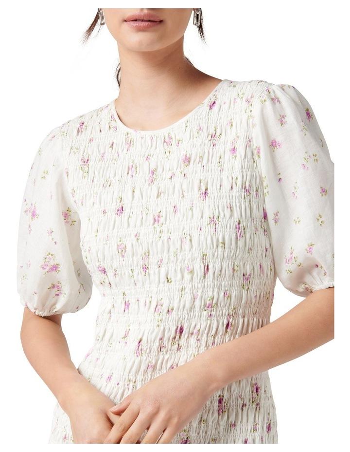 Alexa Shirred Mini Dress Alma Ditsy image 2