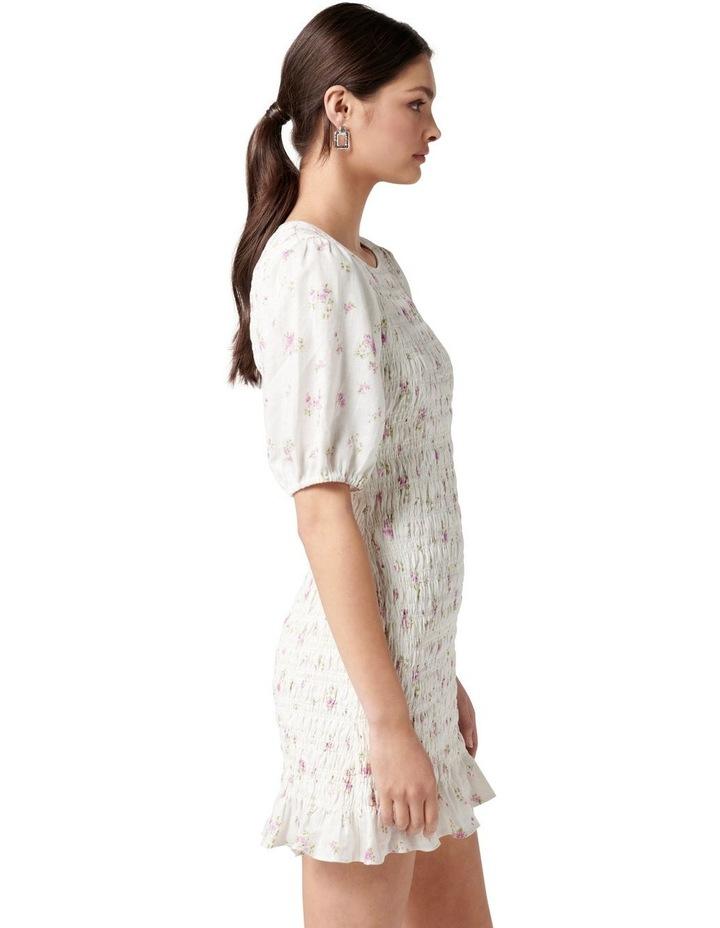 Alexa Shirred Mini Dress Alma Ditsy image 3