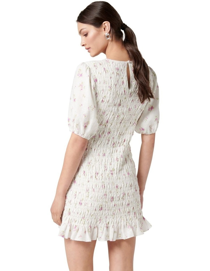 Alexa Shirred Mini Dress Alma Ditsy image 4