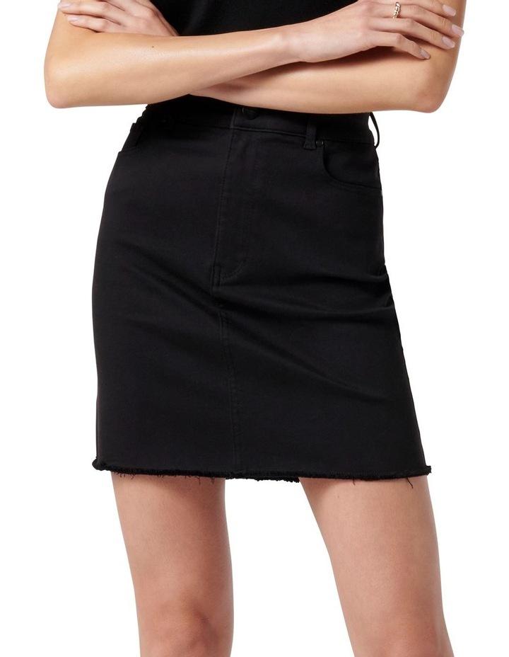 Laura Stretch Denim Mini Skirt Forever Black image 1