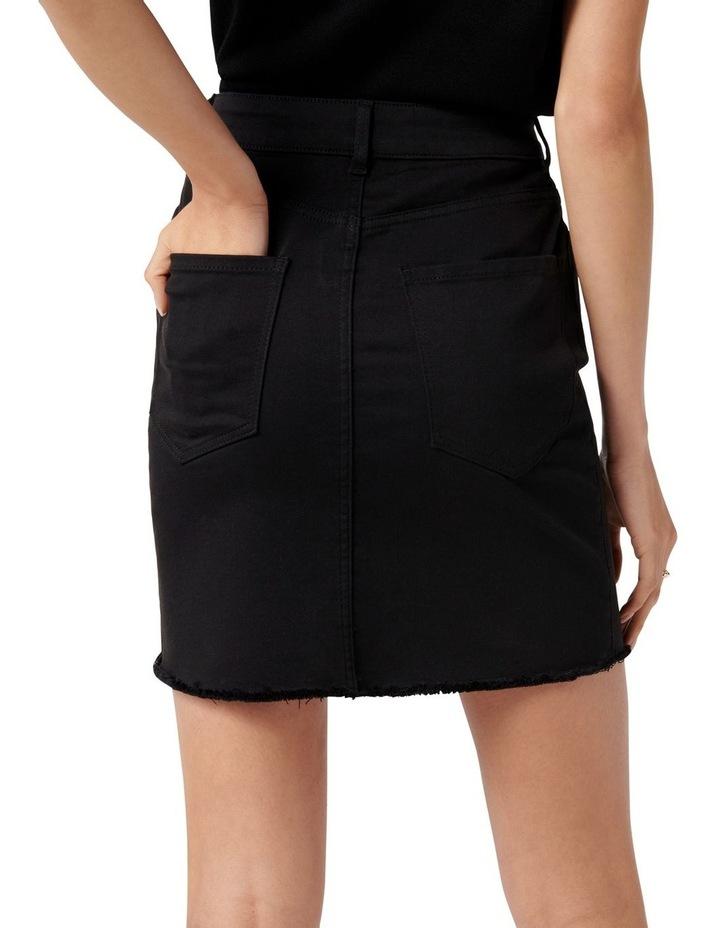 Laura Stretch Denim Mini Skirt Forever Black image 4