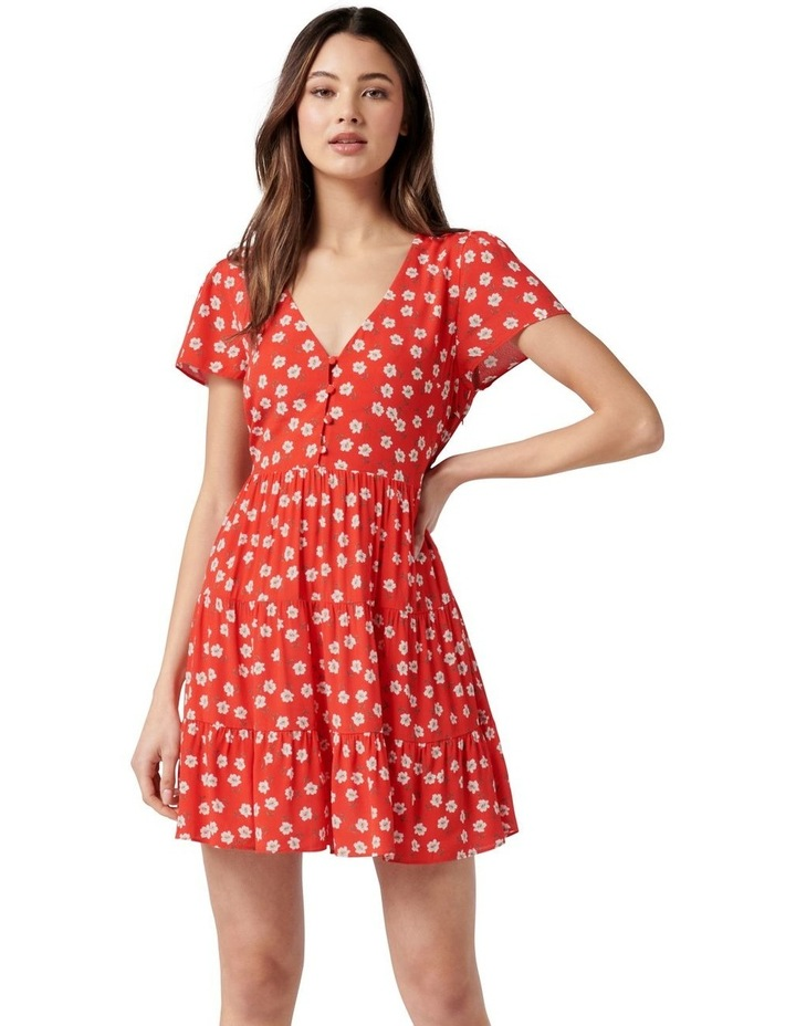 Lauren Mini Sun Dress Red Providence Ditsy image 1