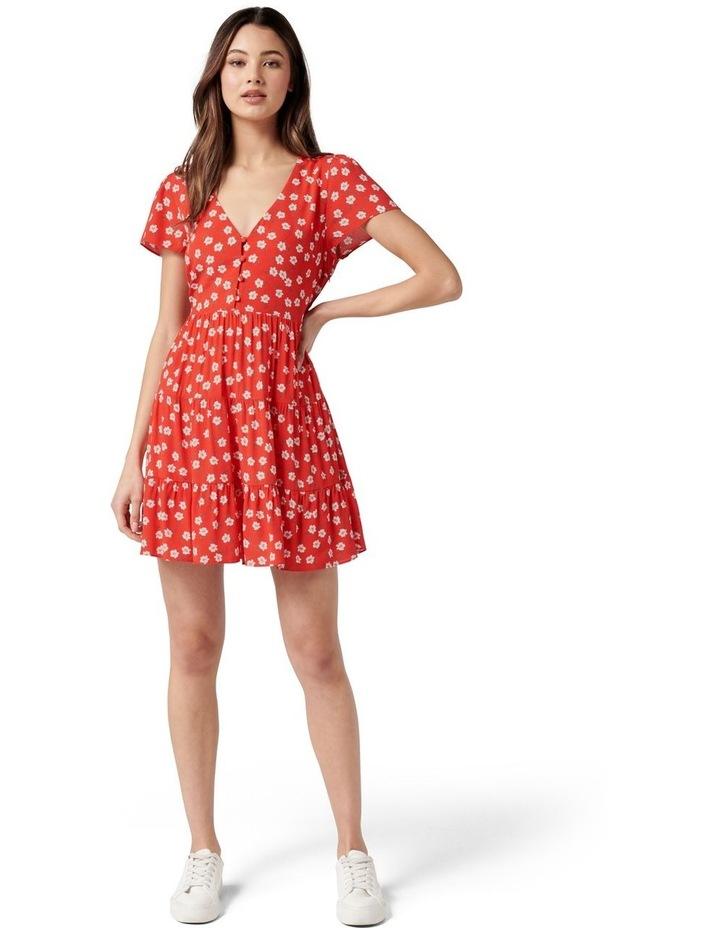 Lauren Mini Sun Dress Red Providence Ditsy image 4