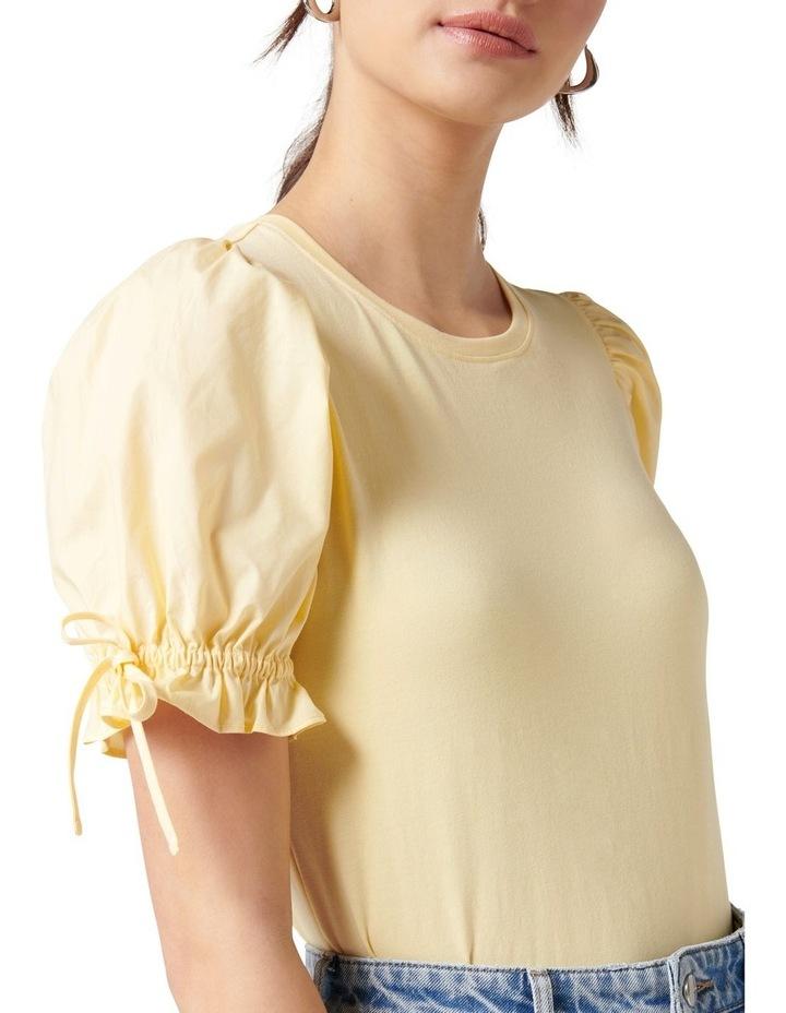 Emery Puff Sleeve Tee Yellow image 2