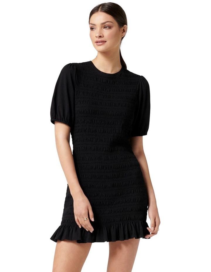 Alexa Shirred Mini Dress Black image 1