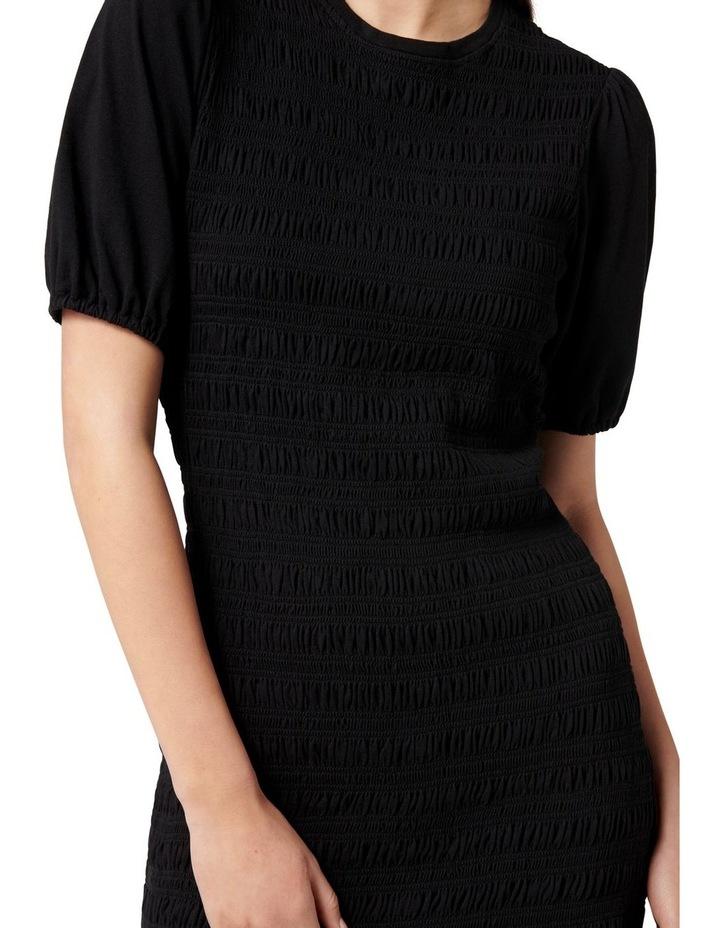 Alexa Shirred Mini Dress Black image 2