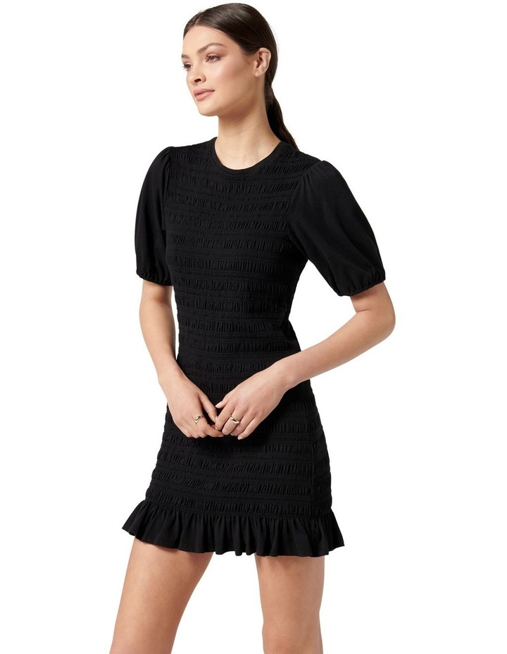 Alexa Shirred Mini Dress Black image 3