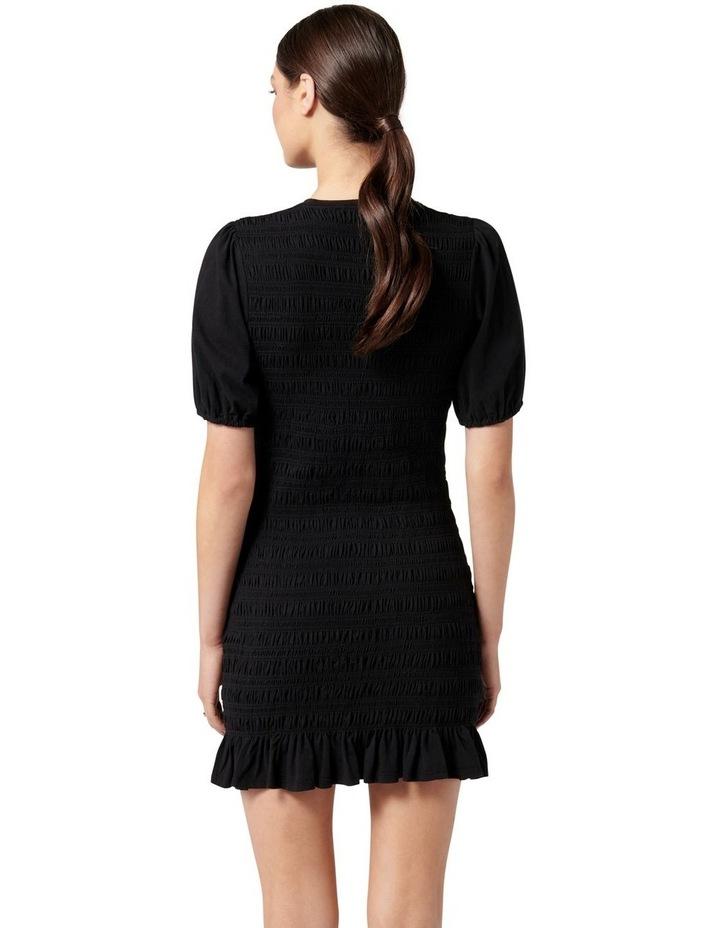Alexa Shirred Mini Dress Black image 4